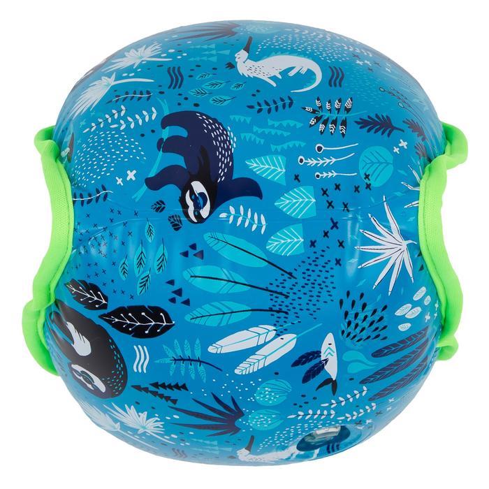 """Zwembandjes voor kinderen zachte binnenkant blauw print """"luiaard"""" 15 -30 kg"""