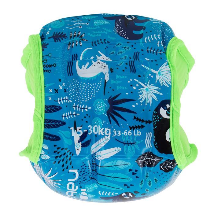 "Brassards natation bleu imprimé ""SLOTH "" intérieur tissu enfant 15 -30 kg"