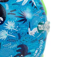 Brassards natation bleu imprimé « Paresseux » intérieur tissu enfant 33-66 lb