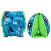 Manguitos natación azules estampado