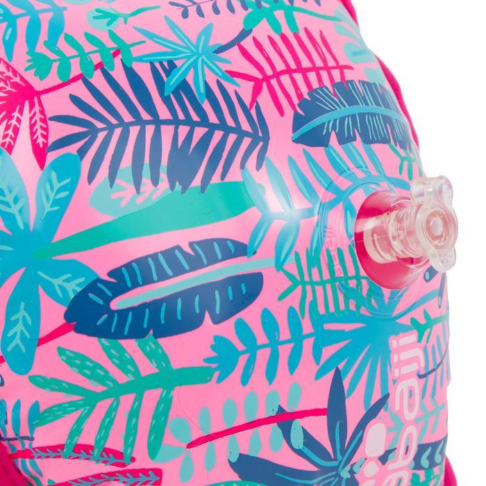 Schwimmflügel Stoff-Innenseite Kinder 15–30kg Kinder Dschungel rosa