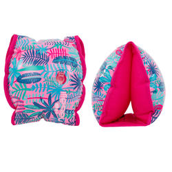 15 -30 kg Children's Inner Fabric Swimming Armbands - Pink _QUOTE_Jungle_QUOTE2_ print