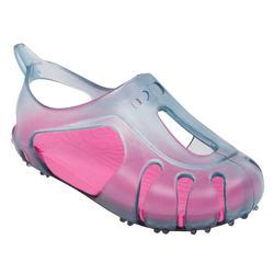 Chaussons de natation bébé gris/rose