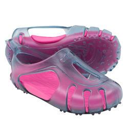 Escarpines natación bebé gris rosa