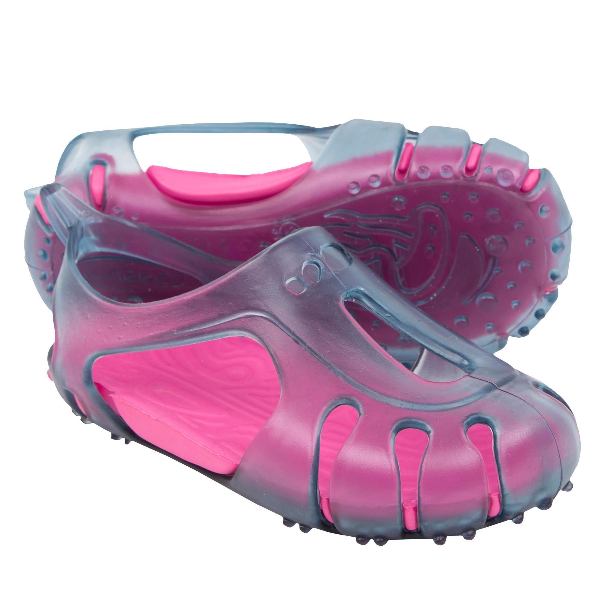 Nabaiji waterschoenen baby grijs/roze