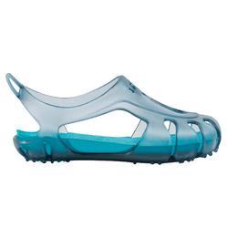 Chaussons de natation bébé gris/bleu