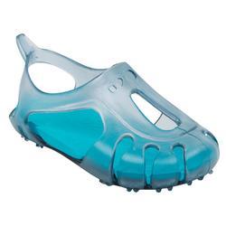 Chaussons piscine bébé gris/bleu