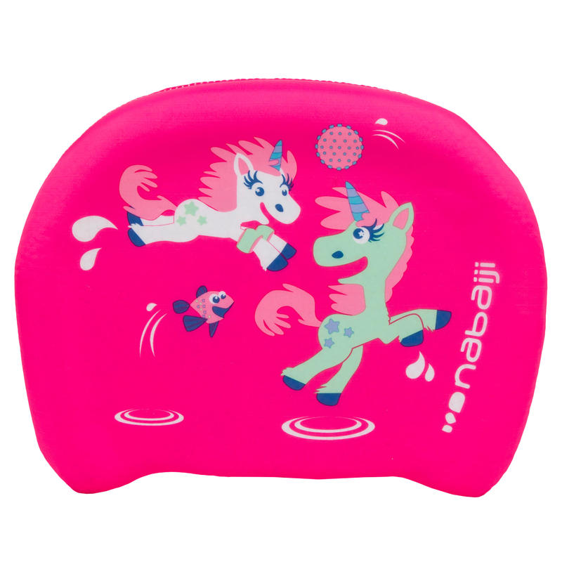 "Child's swimming board blue ""UNICORN"" print"