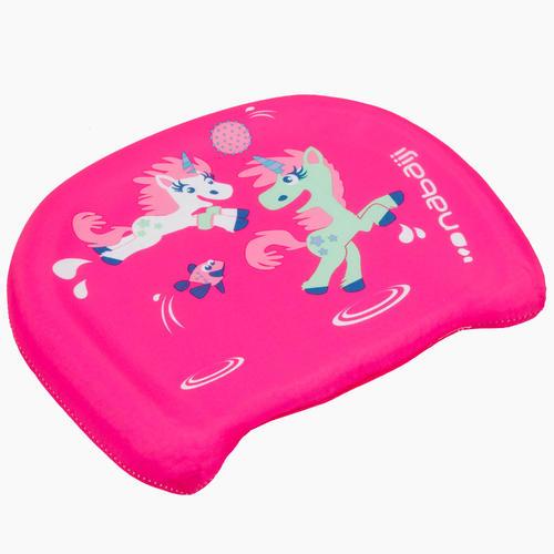 Planche de natation enfant rose avec imprimé ''LICORNE''