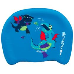 "Child's swimming board blue ""DRAGON"" print"