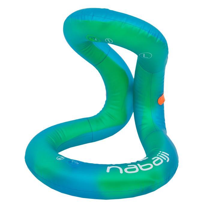 Schwimmweste aufblasbar Neckvest M 50–75kg grün/blau