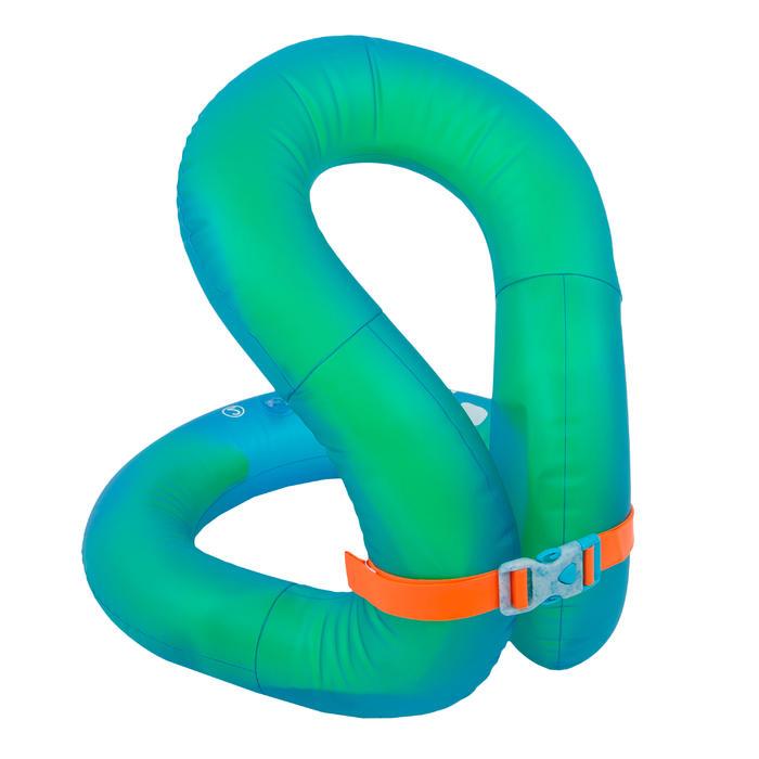 Opblaasbaar zwemvest groen en blauw NECKVEST maat L (75-90 kg)