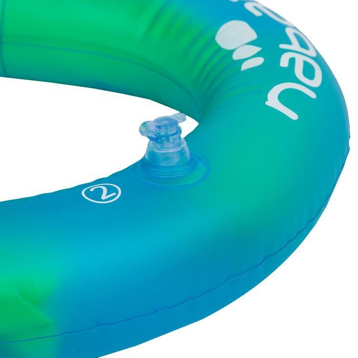 Opblaasbaar zwemvest groen en blauw NECKVEST Maat S (30-50 kg)