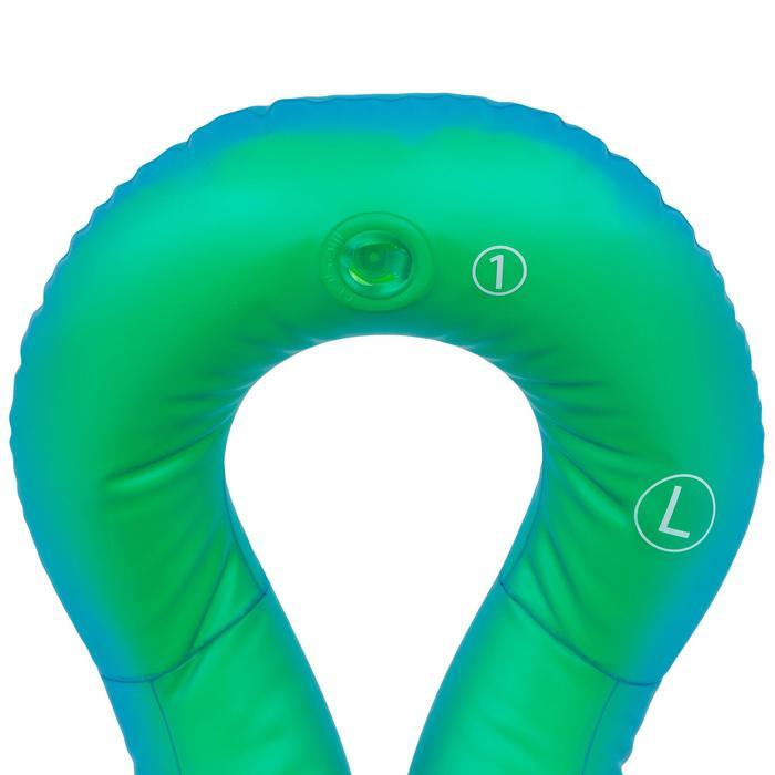 Schwimmweste aufblasbar Neckvest L 75–90kg grün/blau