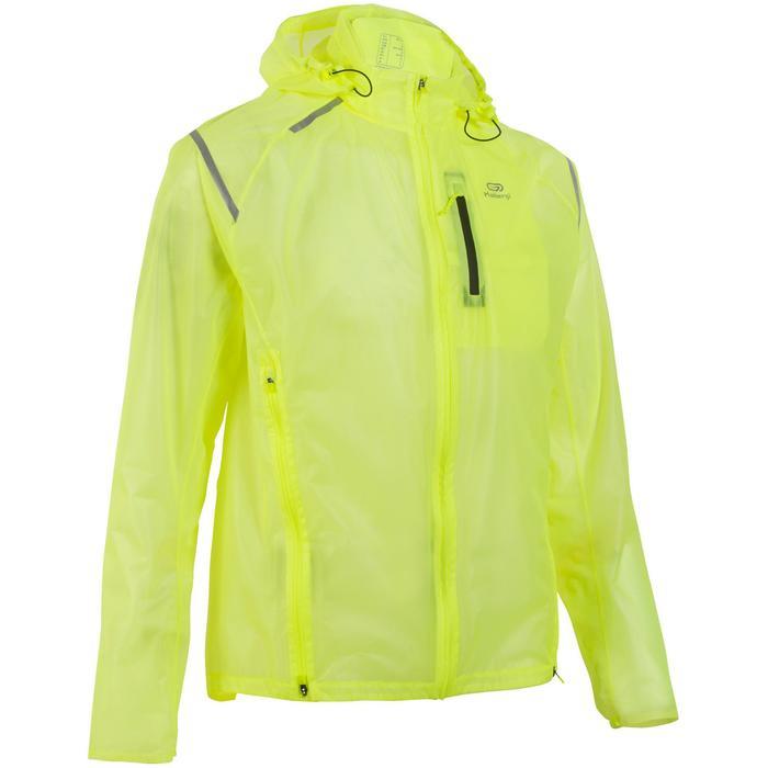 Lauf-Regenjacke wasserdicht Kiprun Light Herren gelb