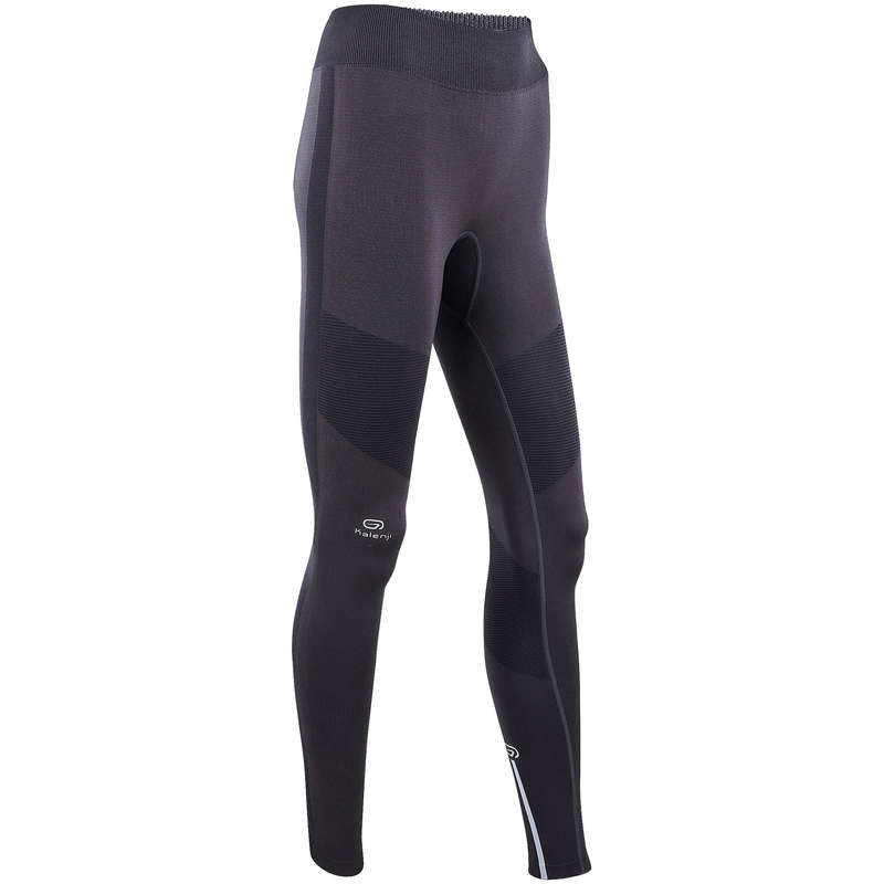 WOMAN WARM/MILD WEATHER RUNNING CLOTHES - KIPRUN CARE WOMEN'S TIGHTS KIPRUN