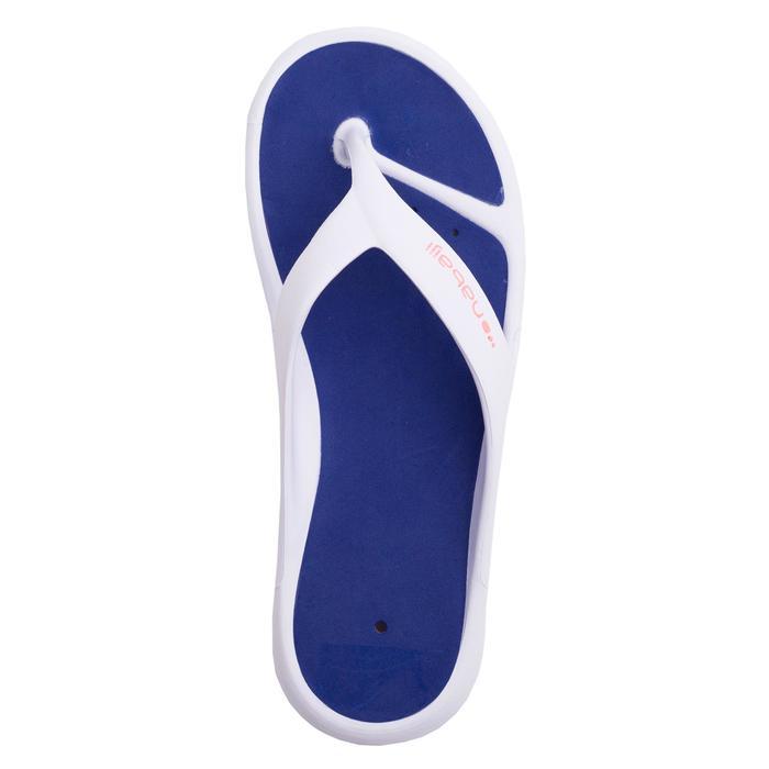Teenslippers voor in het zwembad dames Tonga 500 wit/blauw