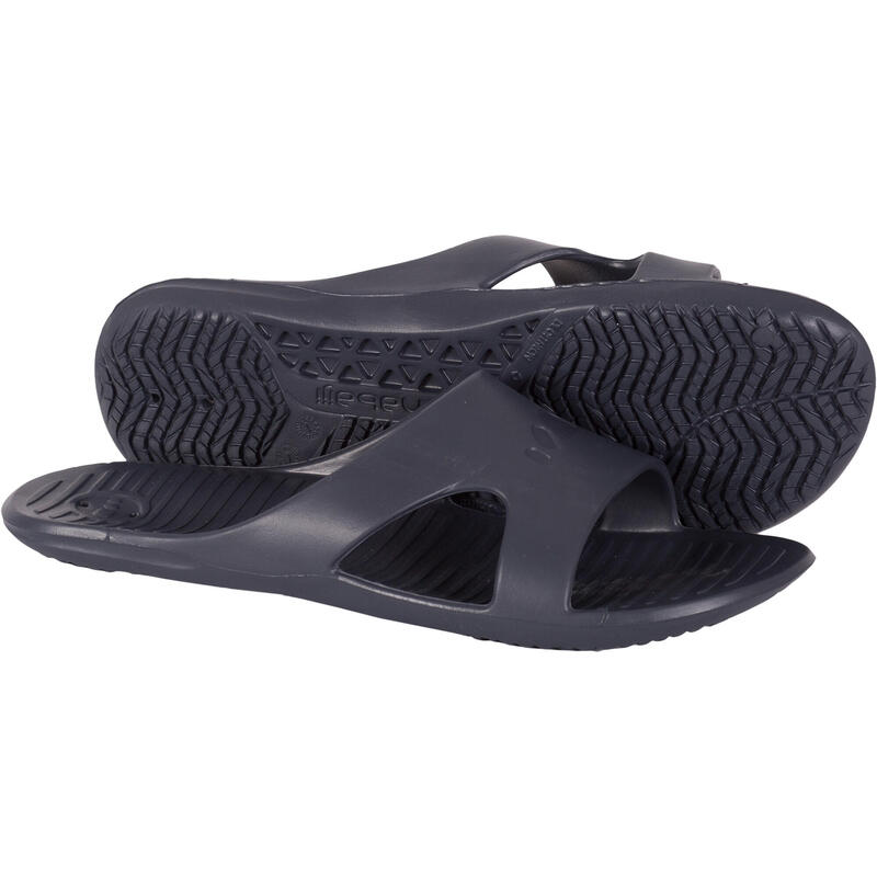 Men's Pool Sandals Slap 100 - Basic Grey