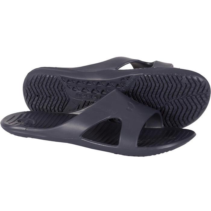 Badslippers voor zwembad heren Slap 100 Basic grijs