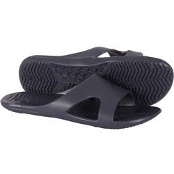 男款泳池拖鞋NATASLAP SSU 100 - 灰色