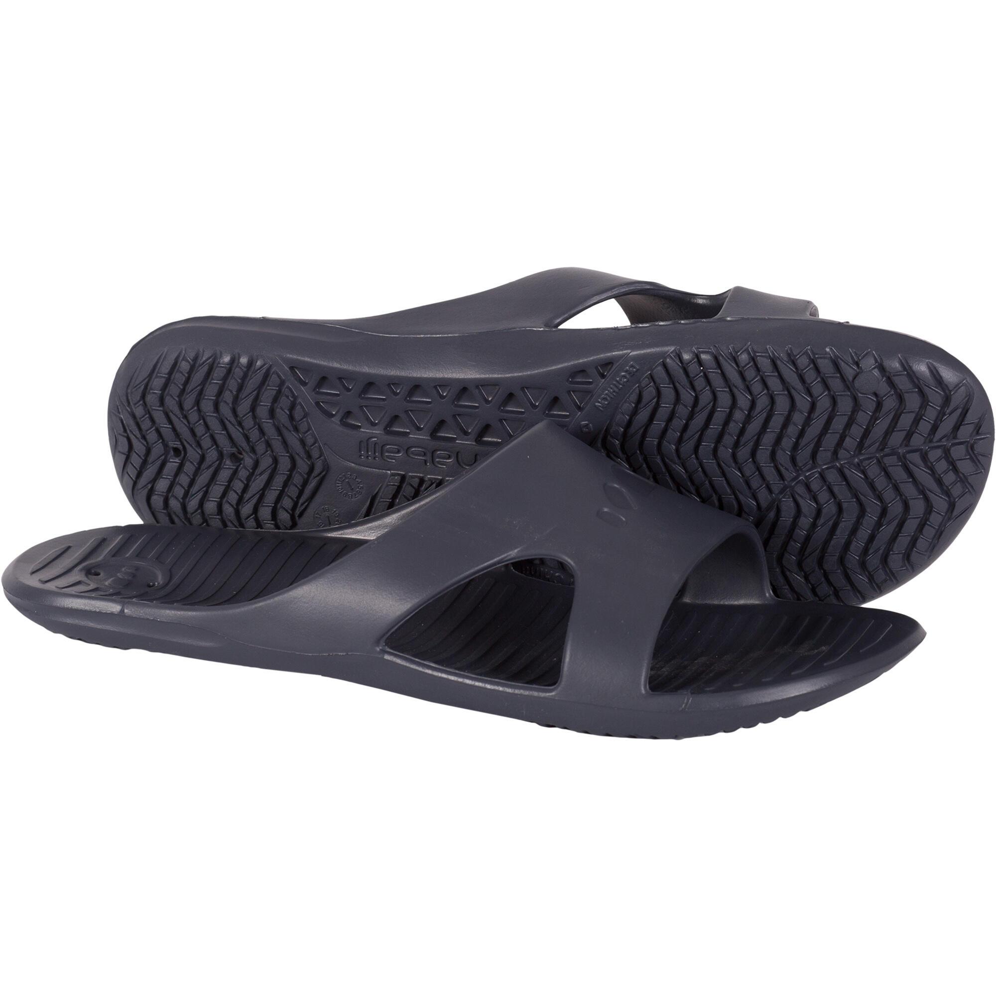Sandales natation homme slap 100 basic gris nabaiji