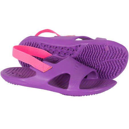 Girls' Pool Sandals Slap 100 - Purple Pink
