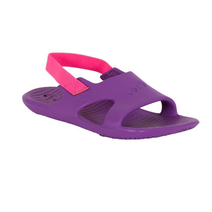 Badslippers voor zwemsport meisjes Slap 100 paars/roze
