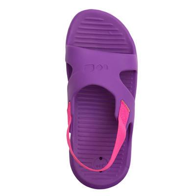 Шльопанці для басейну 100, для дівчат - Фіолетові/Рожеві
