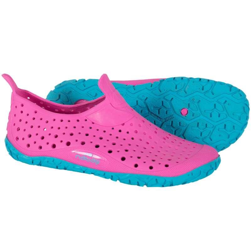 CIABATTE NUOTO Sport in piscina - Scarpette nuoto junior AQUADOT rosa-azzurro NABAIJI - Accessori e Materiale Nuoto