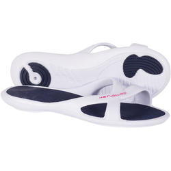 WOMEN'S SLAP 500 POOL SANDALS - WHITE BLUE