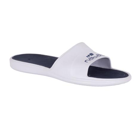 05b640dccac8 Swimming accessories. › Swimming shoes. › MEN S SLAP 500 POOL SANDALS -  WHITE BLUE. Previous. Next