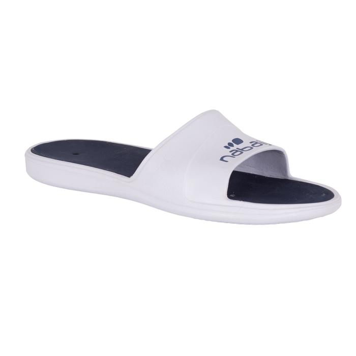 Badslippers heren Slap 500 wit/blauw