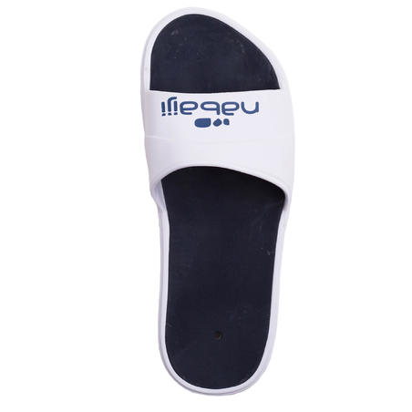 MEN'S POOL SANDALS SLAP 500 - WHITE BLUE