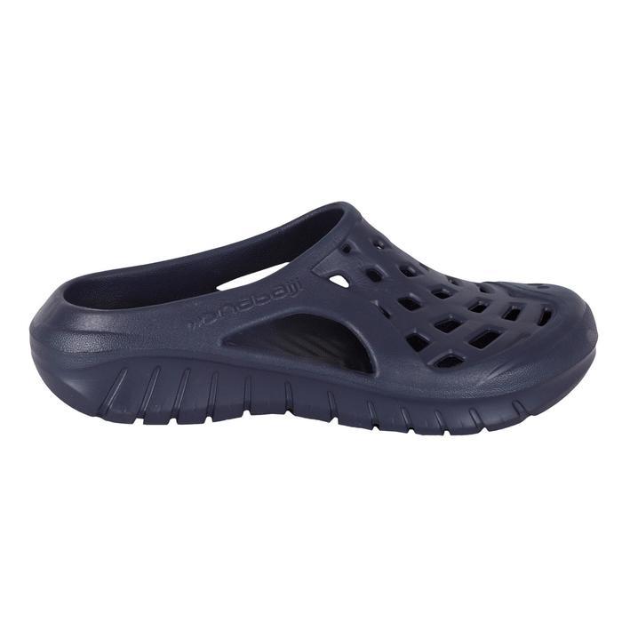 Badslippers voor zwembad heren Clog 100 marineblauw