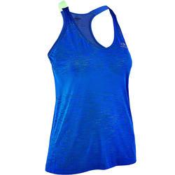 Camiseta Sin Mangas Running Kalenji Kiprun Care Mujer Azúl Indigo