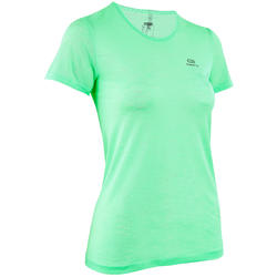 KALENJI KIPRUN CARE WOMEN'S RUNNING T-SHIRT - GREEN