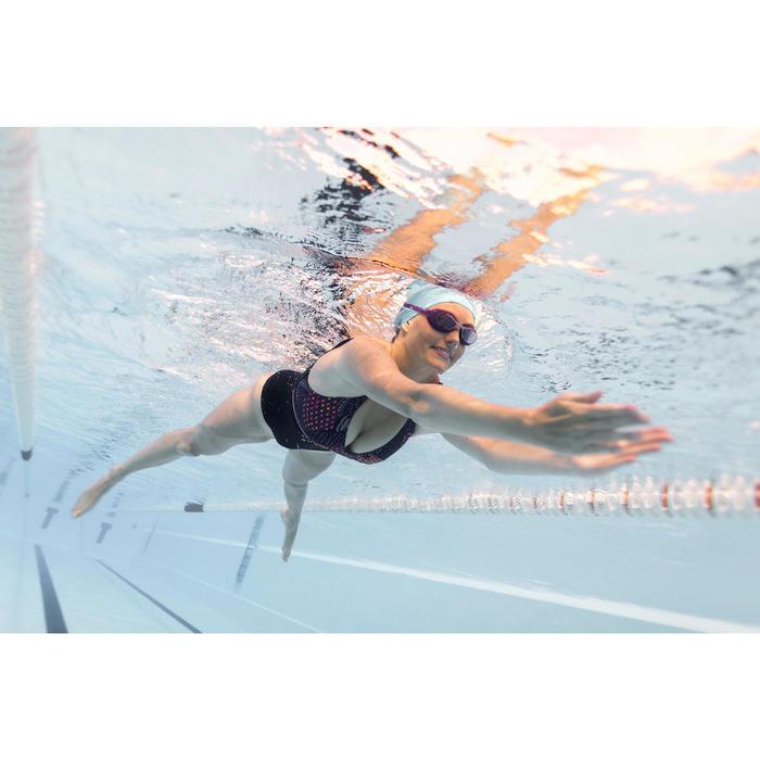 Maillot de bain gainant natation femme une pièce Kaipearl triki eve bleu violet
