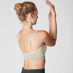 Seamless Gentle Yoga Sports Bra - Beige