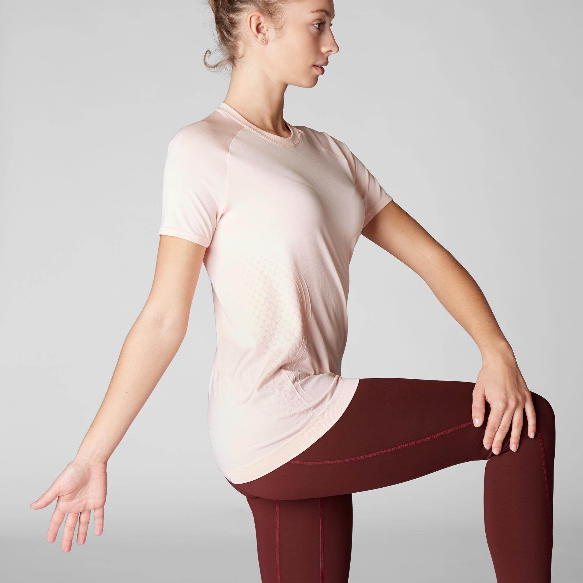 Women's Seamless Dynamic Yoga T-Shirt - Pink