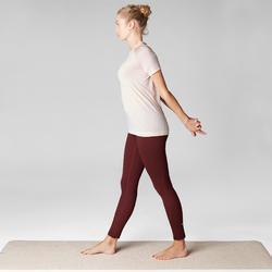 Naadloos dames T-shirt voor dynamische yoga roze