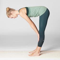 Top Yoga nahtlos für dynamisches Yoga grün