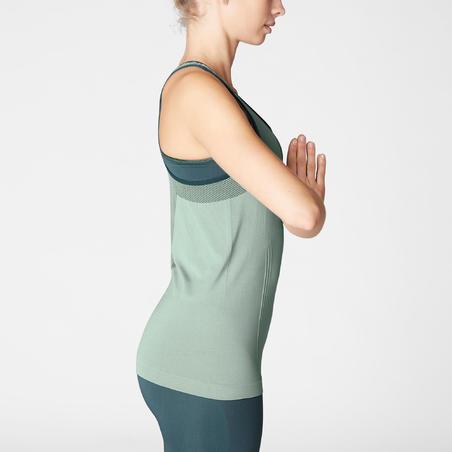 Tank Top Seamless Yoga Dinamis Wanita - Hijau