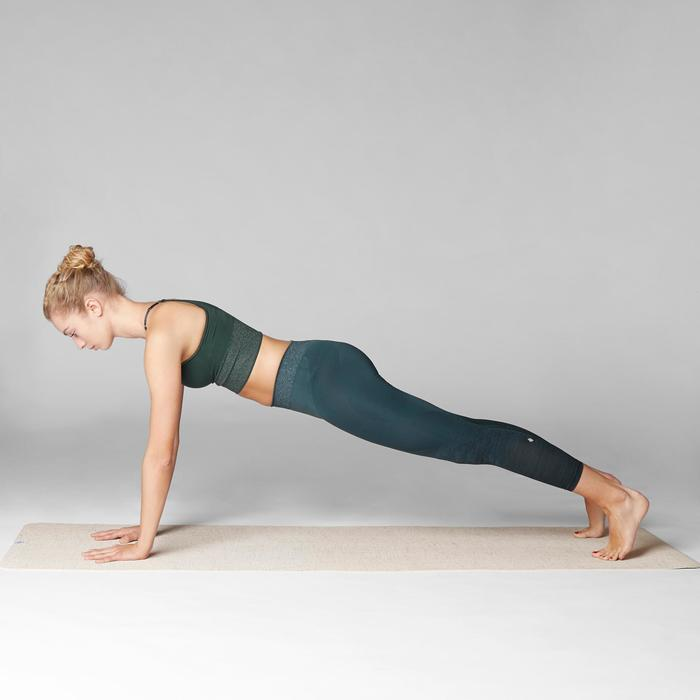 Lange naadloze behatop voor dynamische yoga donkergroen / zilver