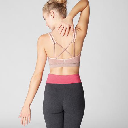 Sports Bra Seamless Yoga Ringan- Pale Pink