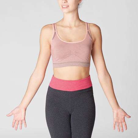 Seamless Gentle Yoga Sports Bra - Pale Pink