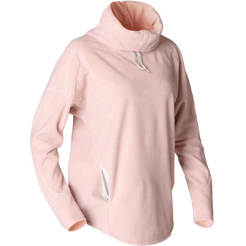 SWEAT POLAIRE RELAXATION YOGA FEMME ROSE CHINE