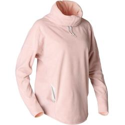 Felpa donna pile yoga rosa melange