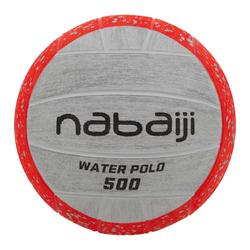 BALLON WATER POLO 500 TAILLE 3 ORANGE GRIS