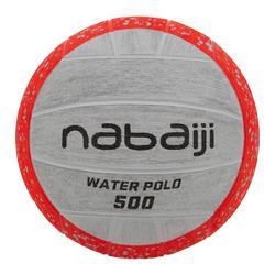 BALLON WATER POLO 500 TAILLE 3 ORANGE GRIS