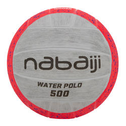 PINK GREY 500 WATER POLO BALL SIZE 4